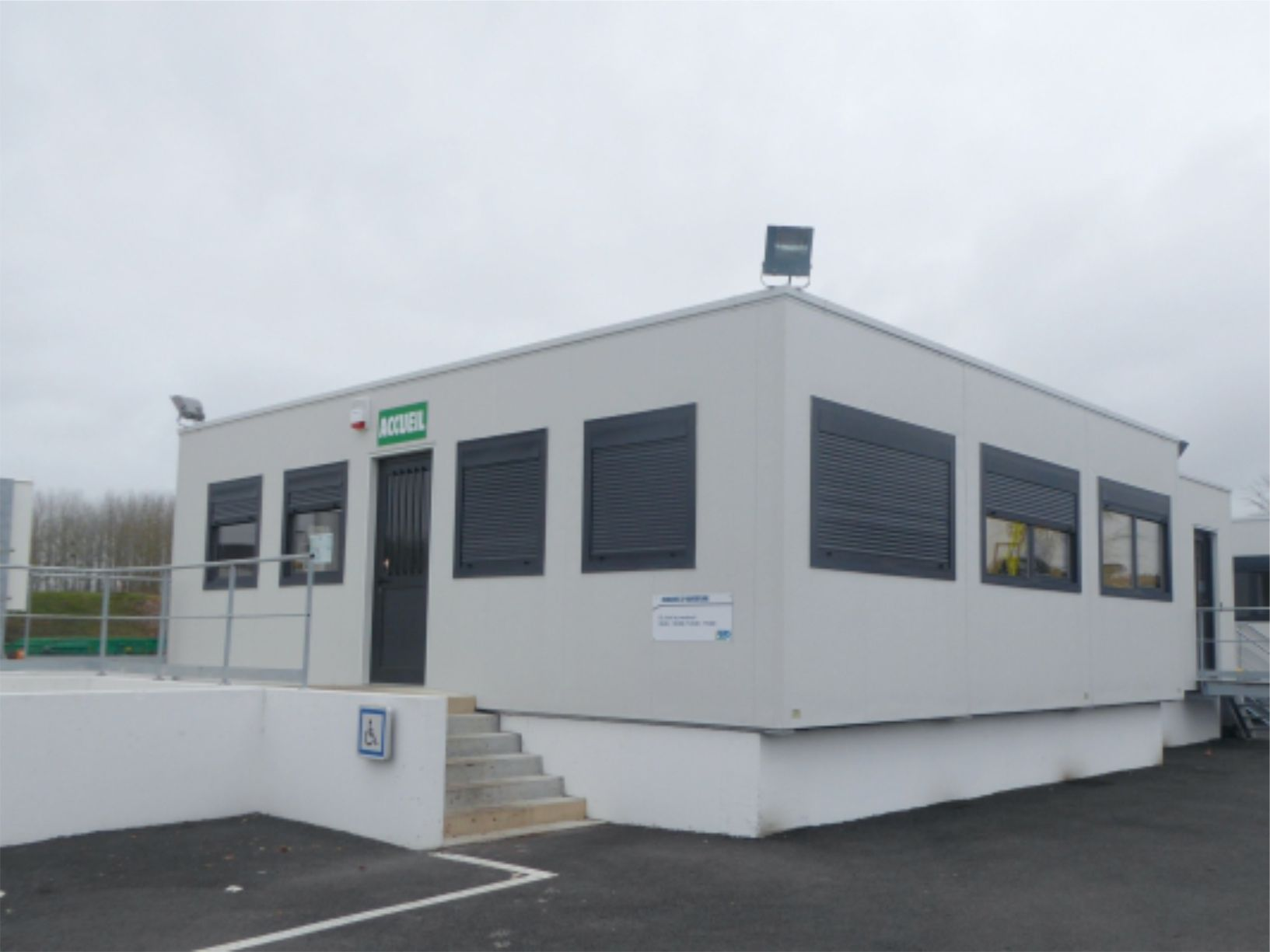 Bâtiment et bureau modulaire pour lindustrie courant constructeur