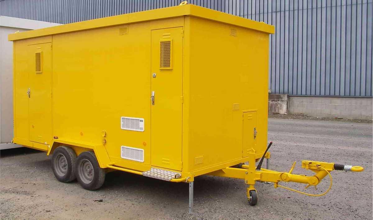 Abri De Chantier Mobile Sur Roues Courant Constructeur